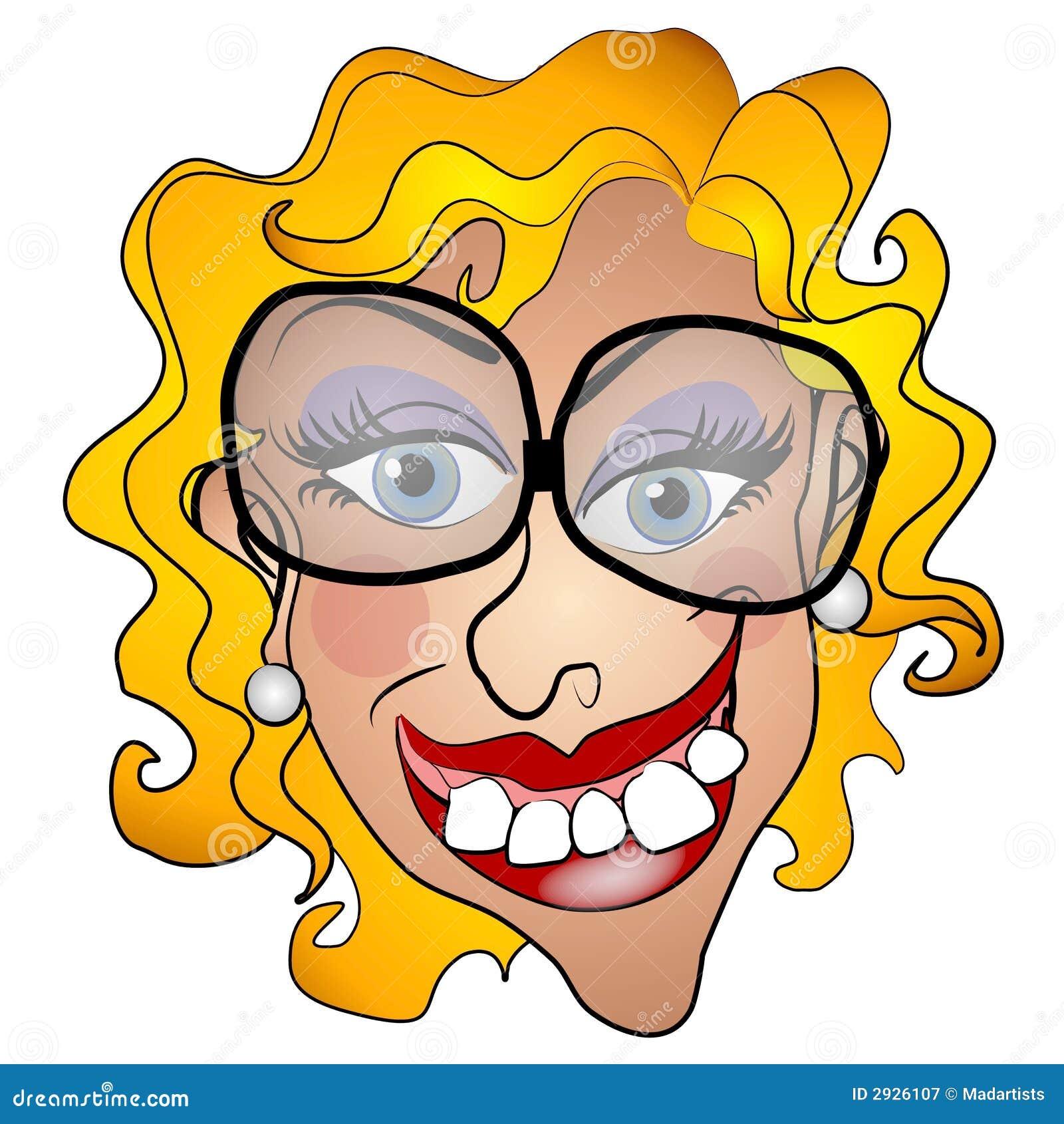 Sourire laid de jeune femme de Netty