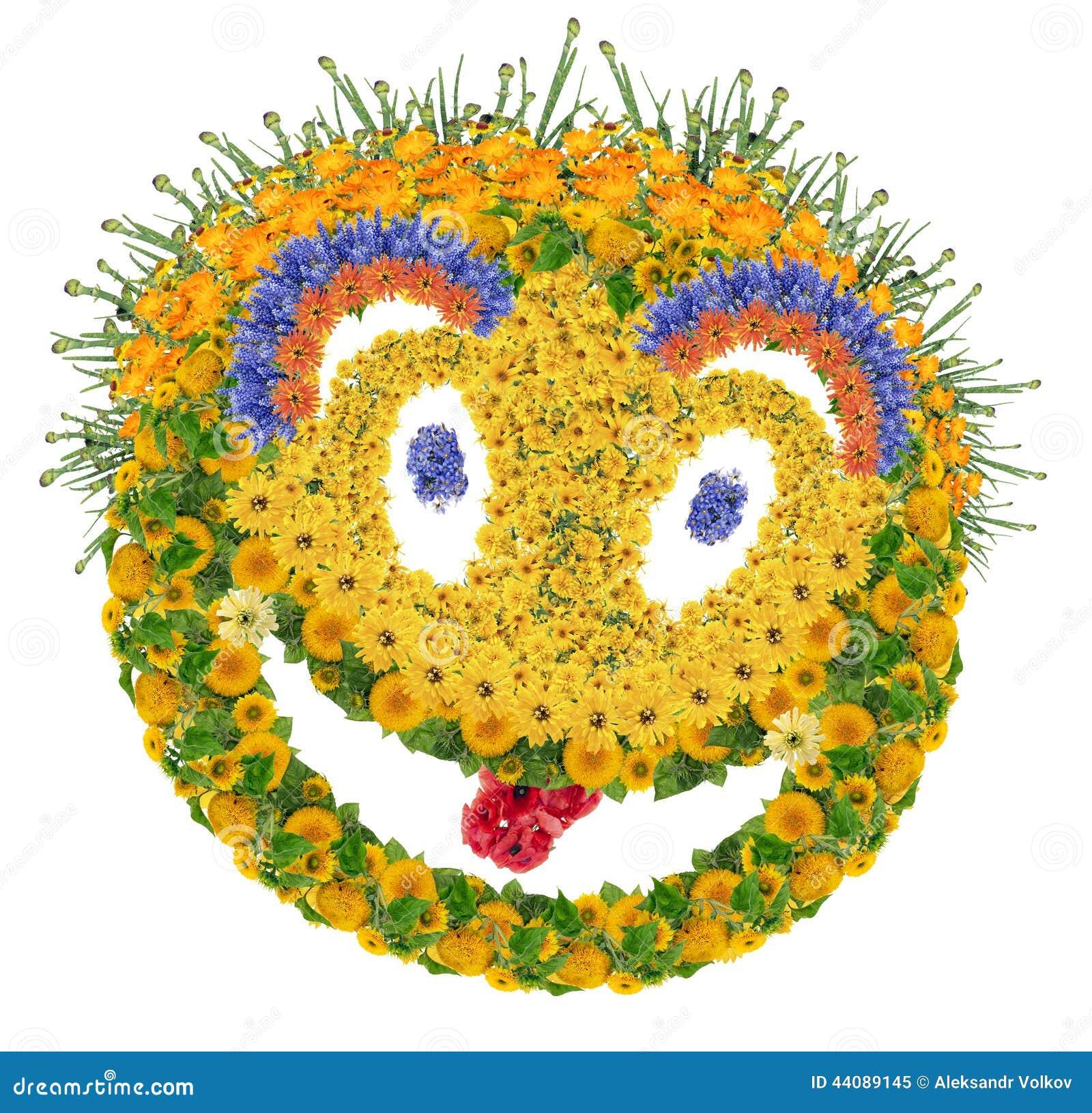 Sourire psychodelic floral
