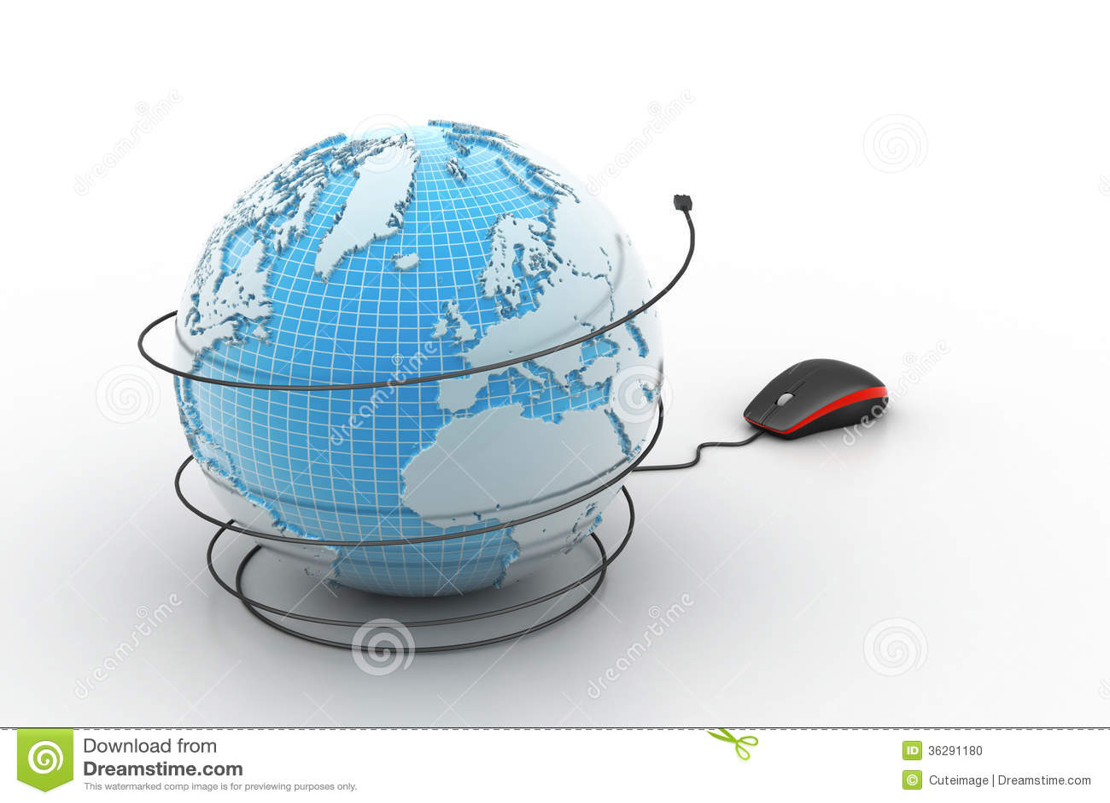 souris d 39 ordinateur avec le globe photo stock image 36291180. Black Bedroom Furniture Sets. Home Design Ideas