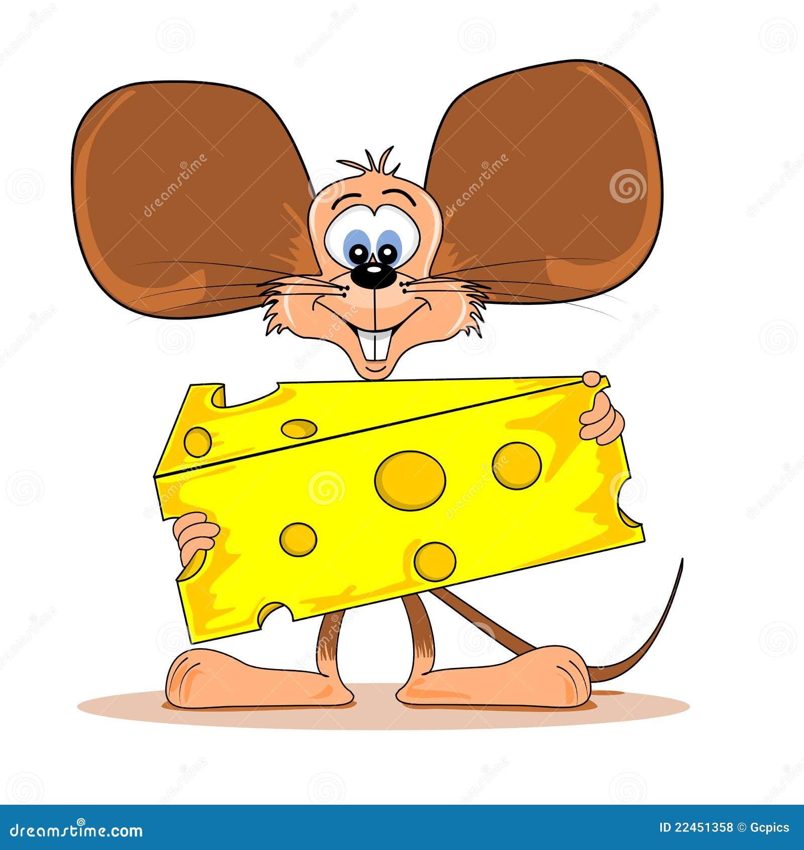 Souris de dessin anim avec du fromage illustration de - Dessin sourie ...