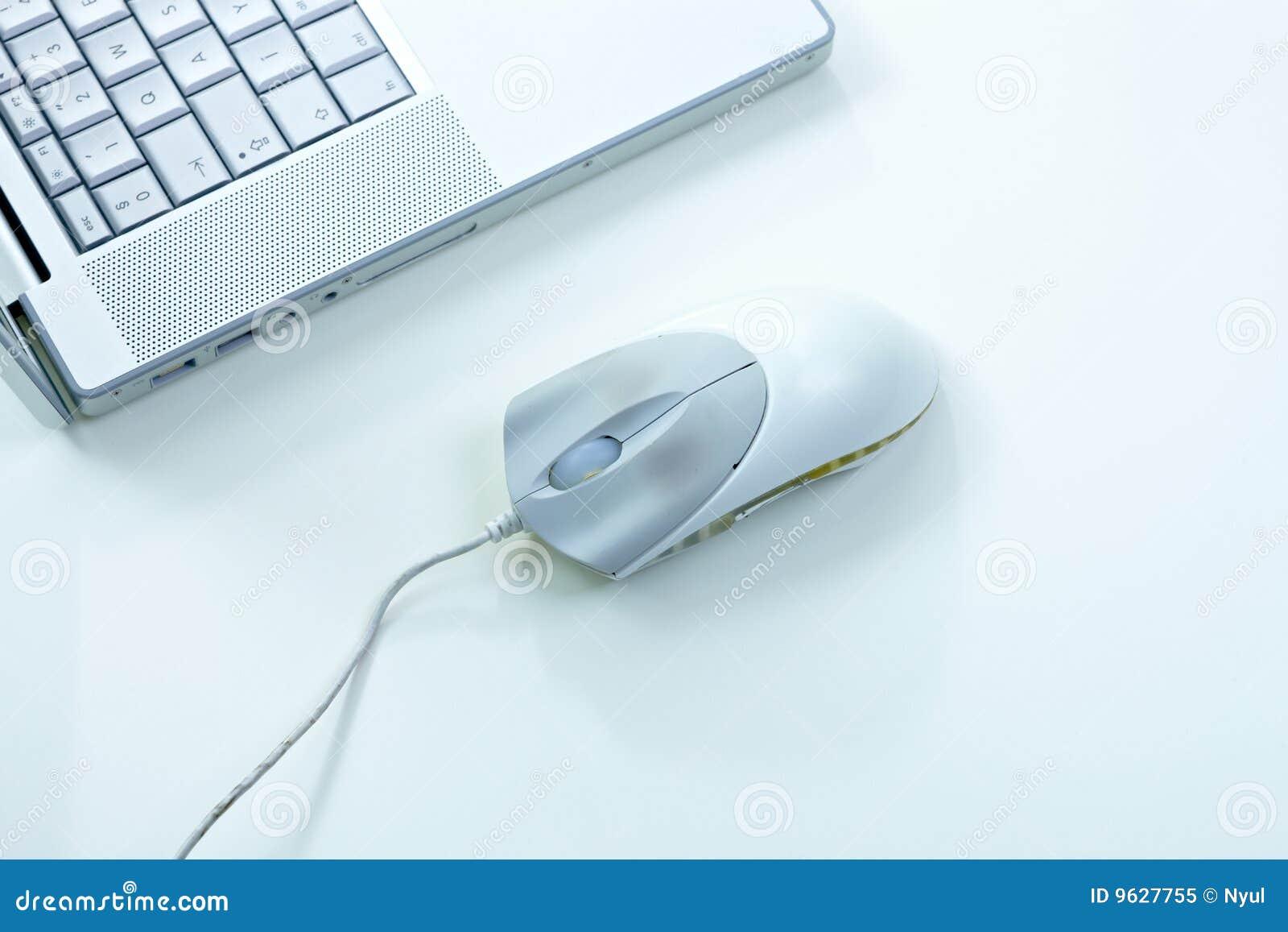 Souris et ordinateur portatif
