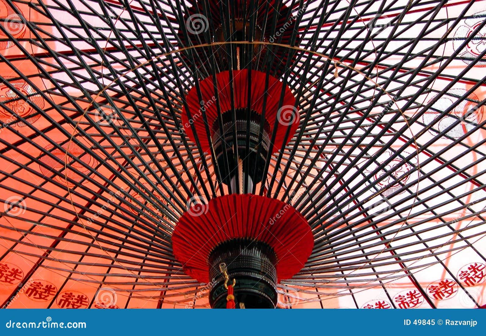 Sous le parapluie japonais