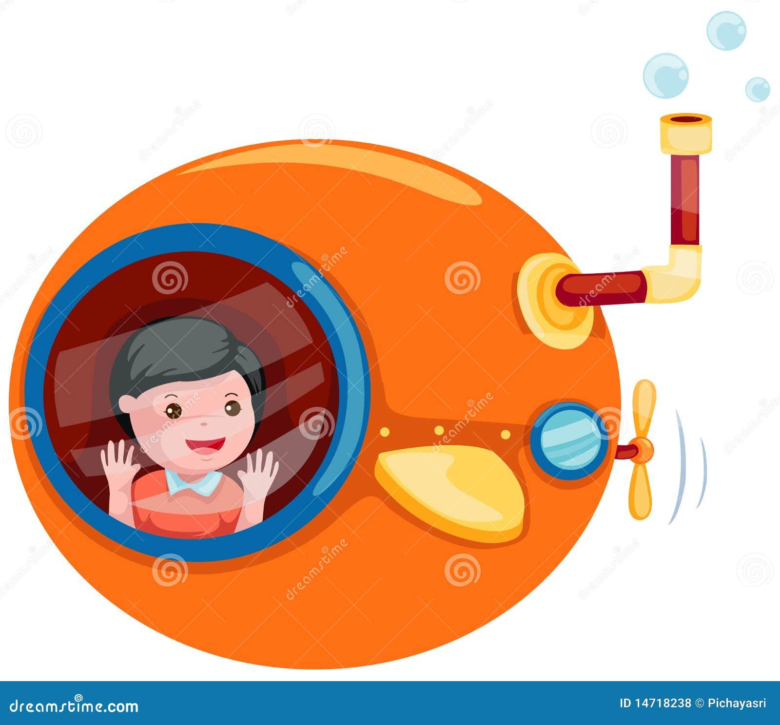 Sous marin de dessin anim photos libres de droits image - Dessin sous marin ...