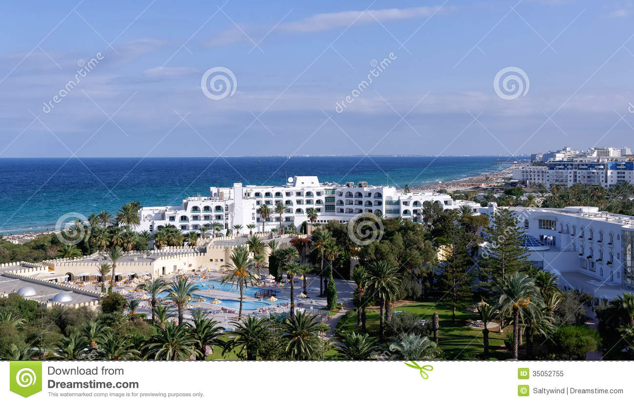 Sousse hotels on the beach, Tunisia