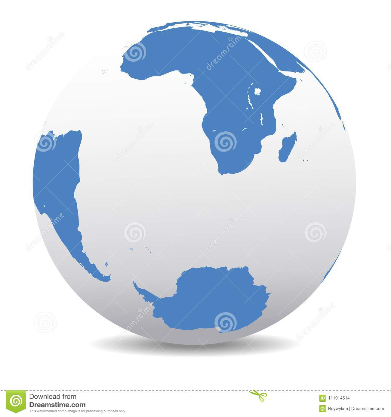 South Africa, Madagascar, South America And Antarctica, South Po ...