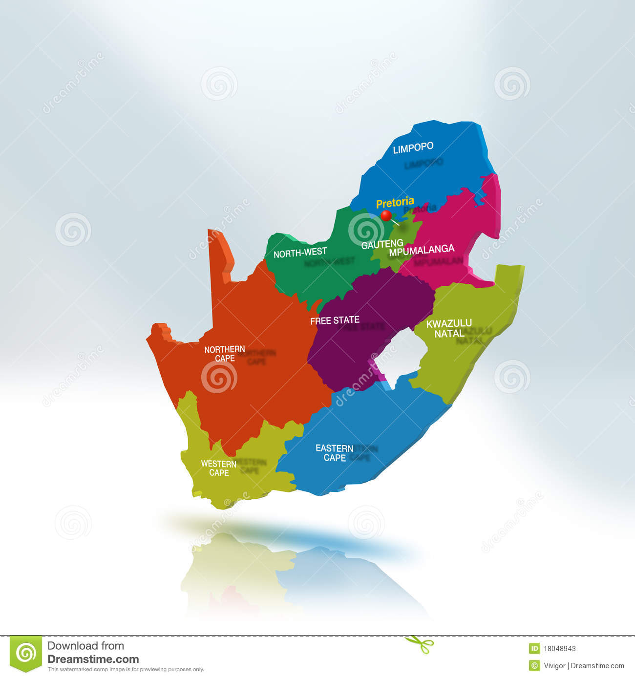South Africa Map stock illustration Illustration of colors 18048943