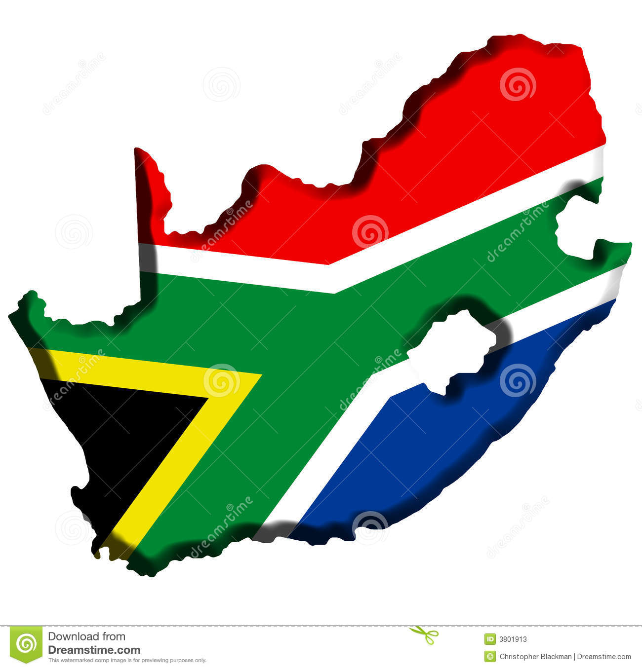 Flag Map Of Africa.South Africa Map Stock Illustration Illustration Of Cutout 3801913