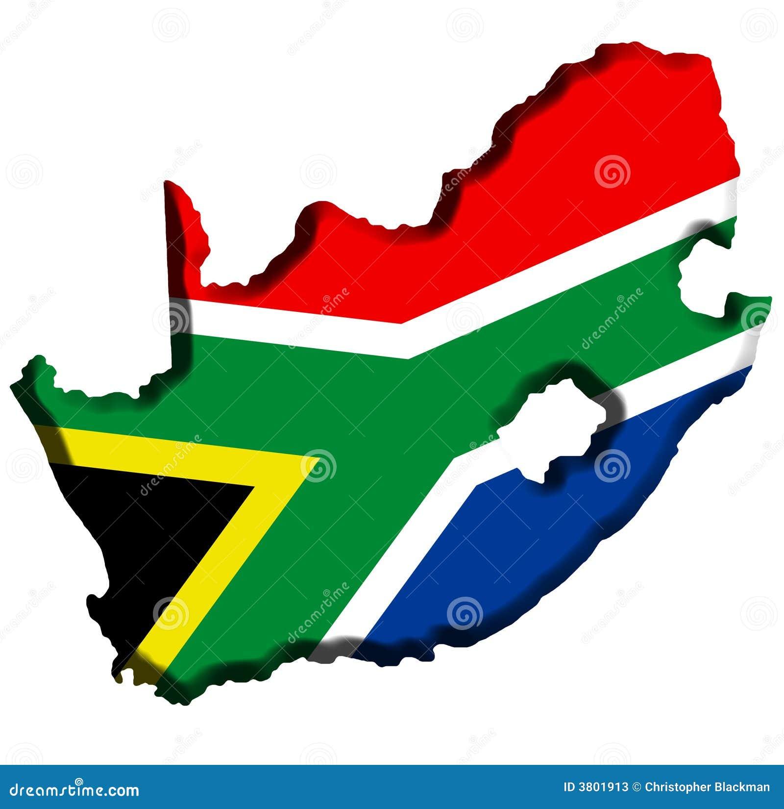 South Africa Flag In Africa Map.South Africa Map Stock Illustration Illustration Of Cutout