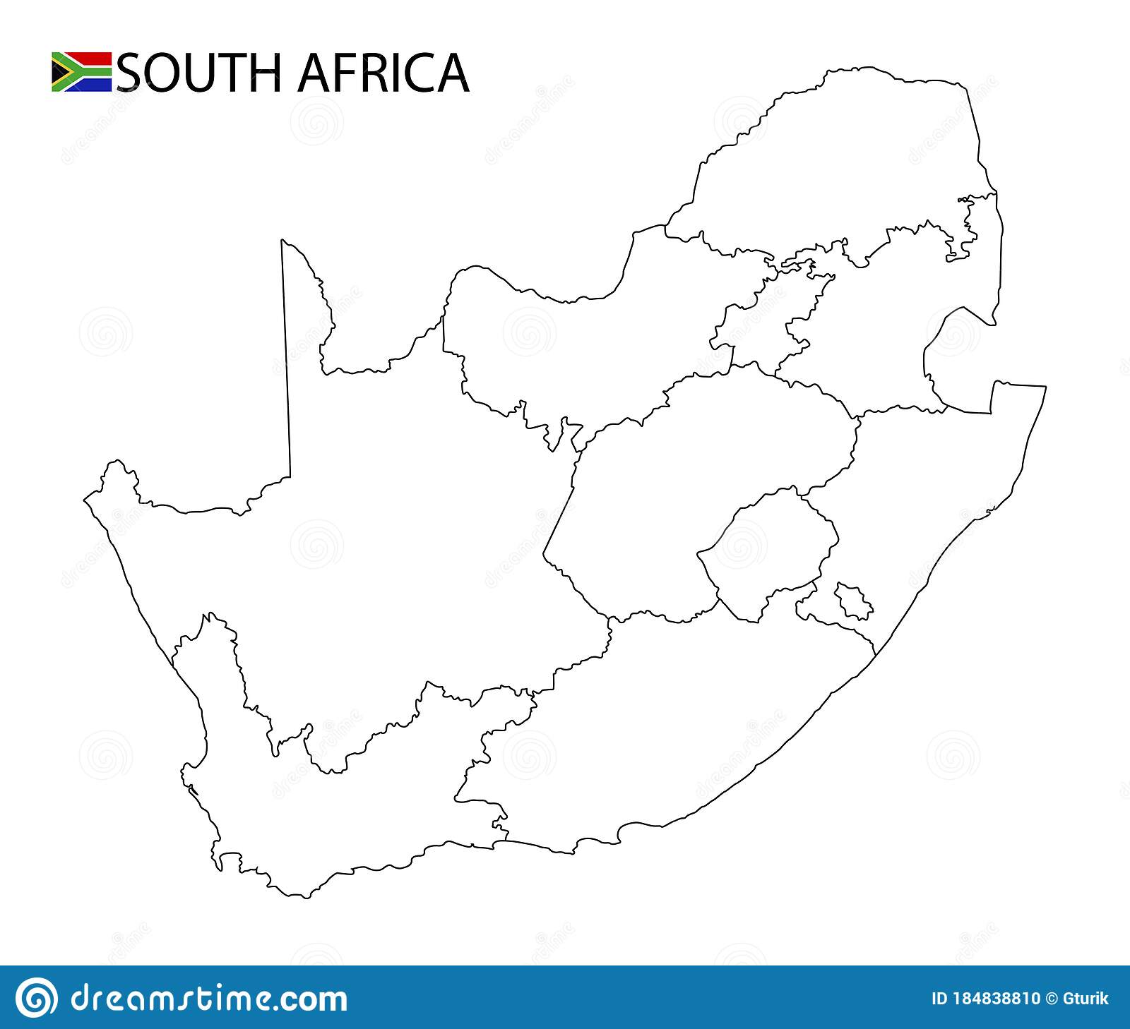 Map South Africa Outline Stock Illustrations 4 538 Map South Africa Outline Stock Illustrations Vectors Clipart Dreamstime