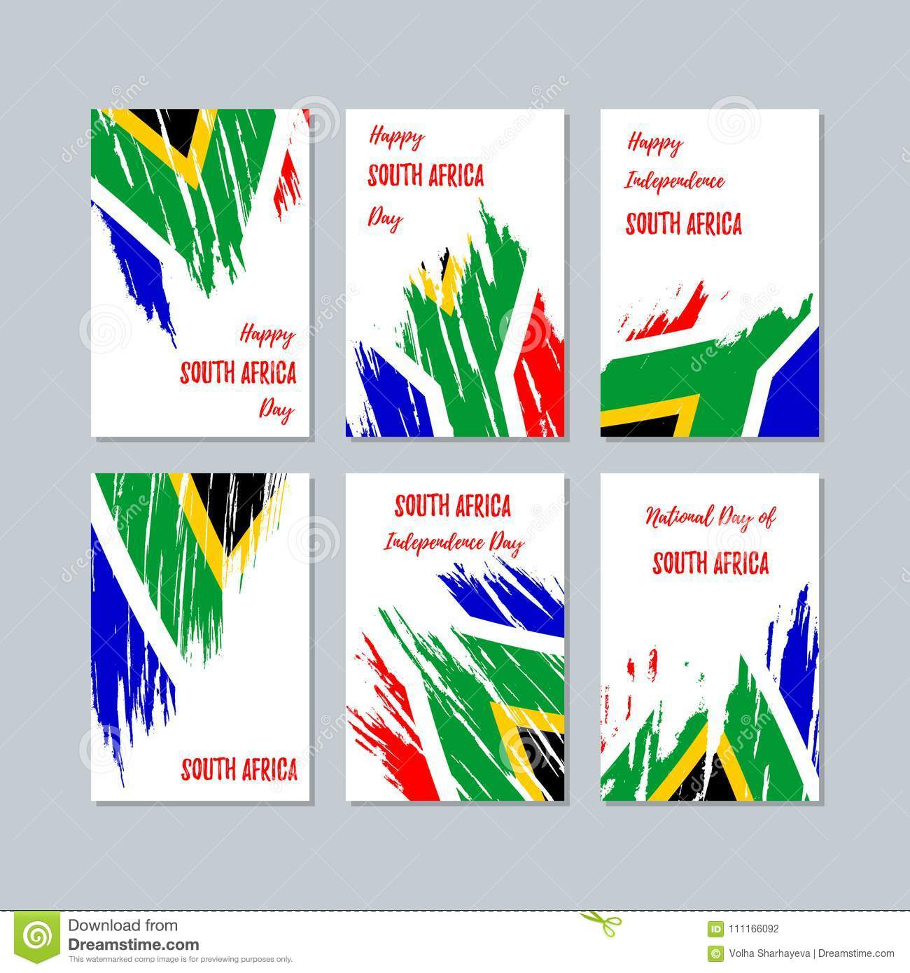 South africa patriotic cards for national day stock vector download south africa patriotic cards for national day stock vector illustration of citizen m4hsunfo
