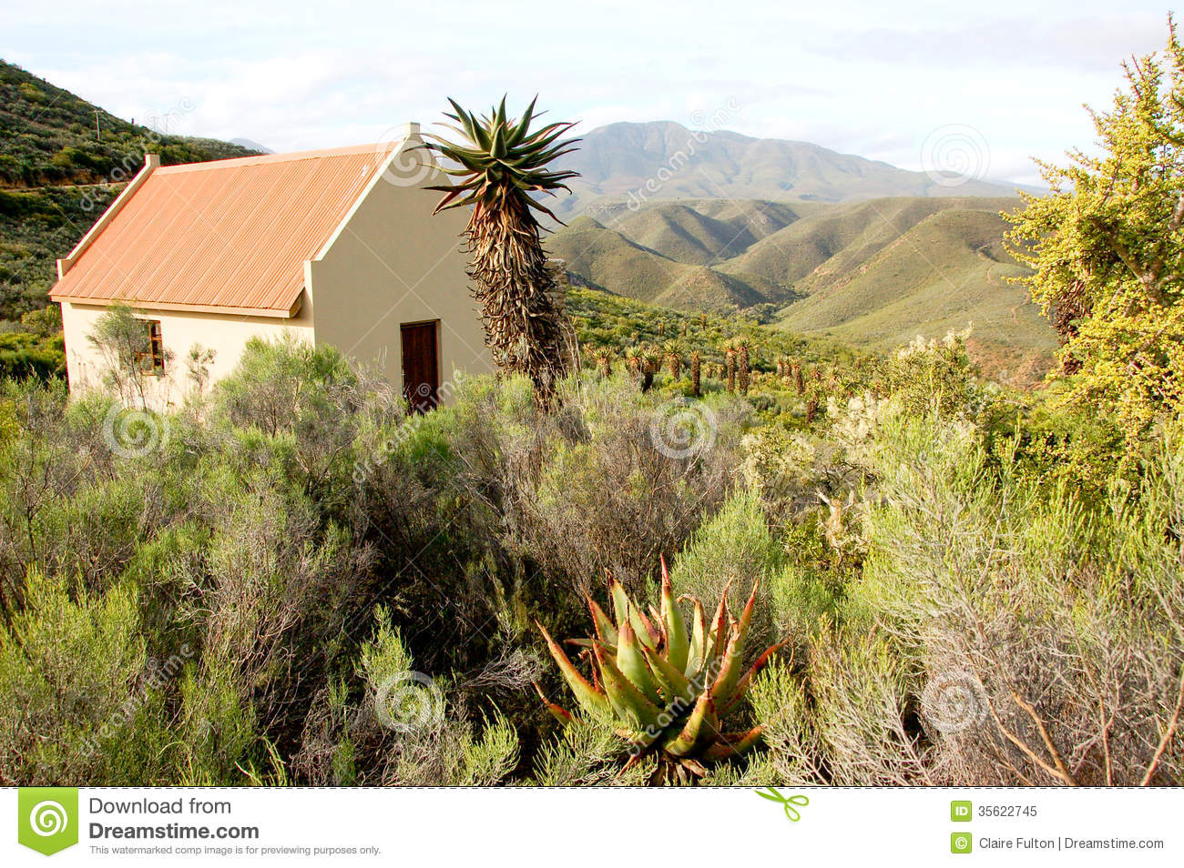 Small Tin Roofed Self Catering Cottage On A Farm In South Africa In