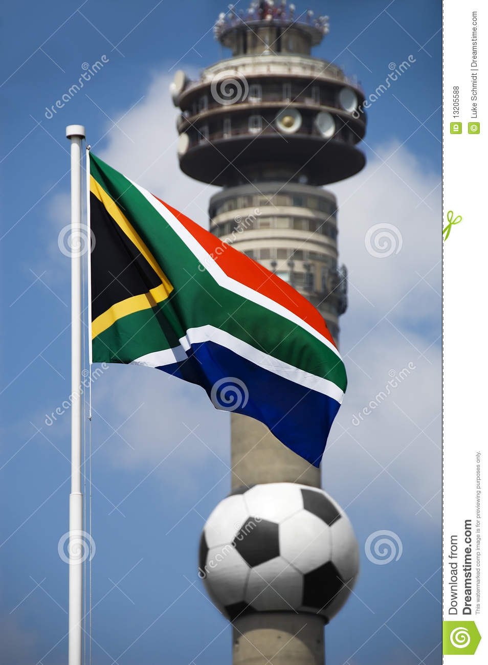 South African Flag and 2010 Football World Cup ico