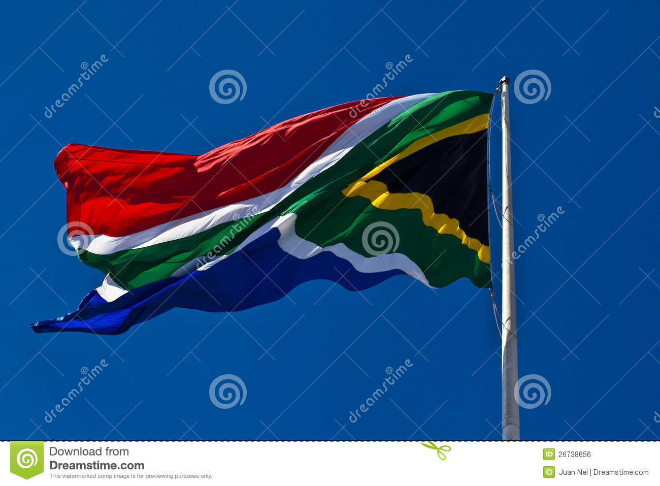 South African flag.