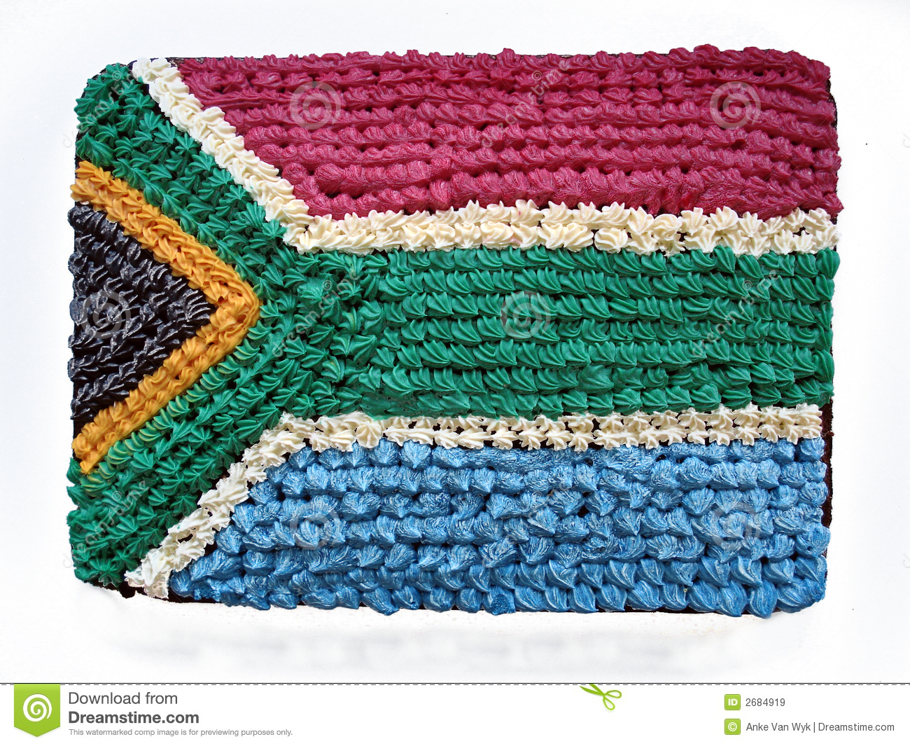 South African flag cake