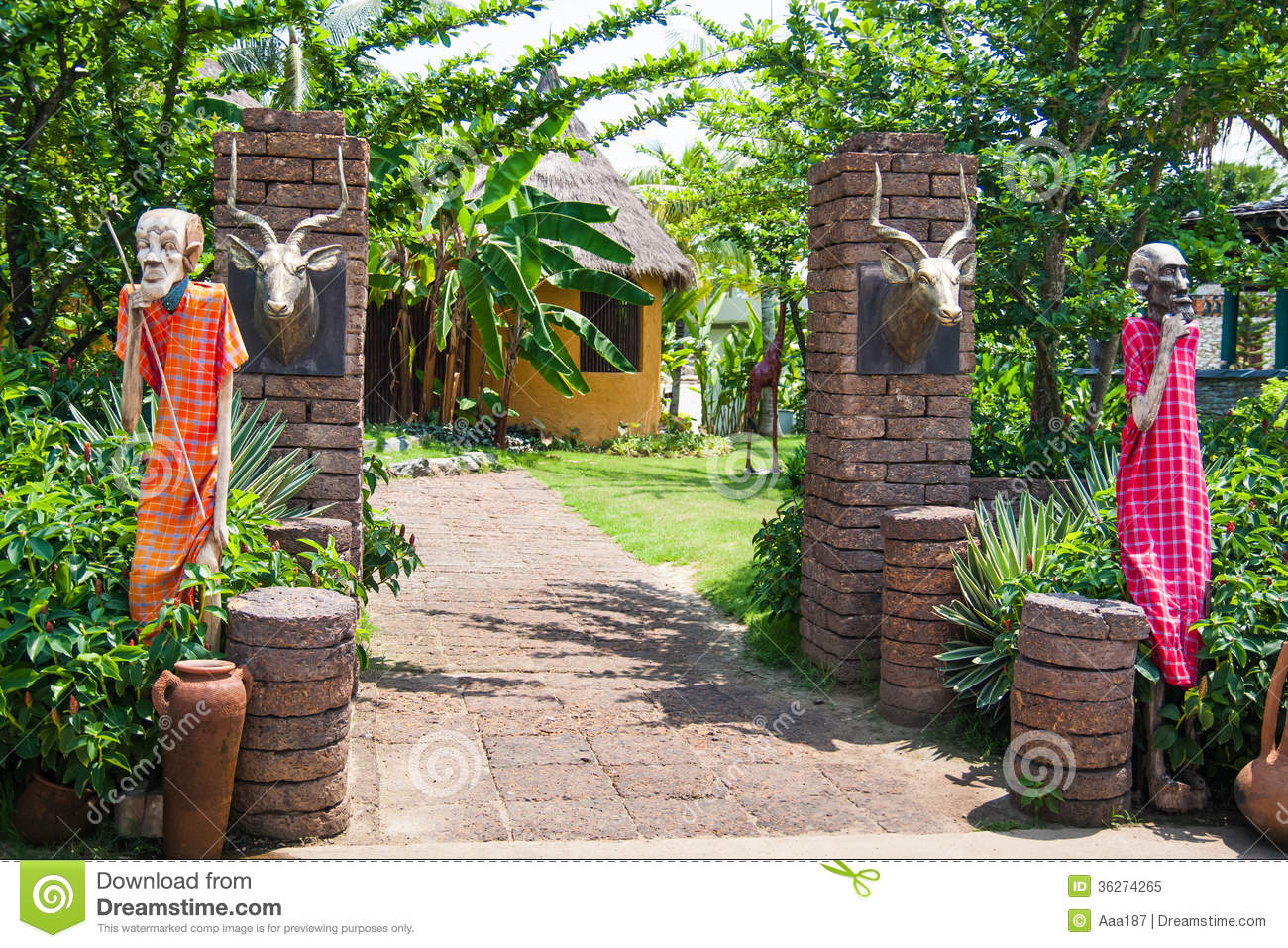 South African Garden Design Royalty Free Stock Photo Image 36274265