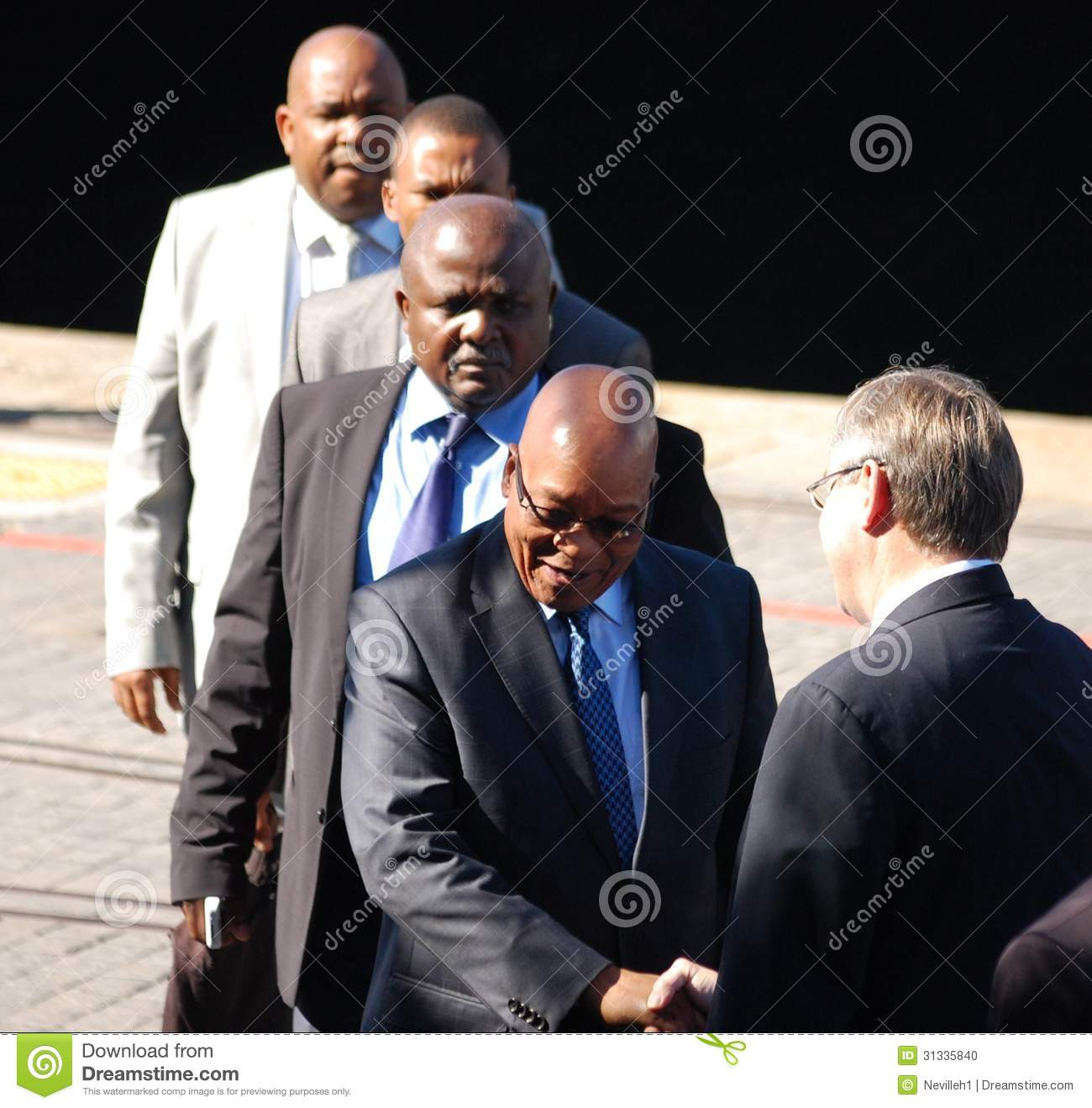 South African President Jacob Zuma At The Va Waterfront In Cape