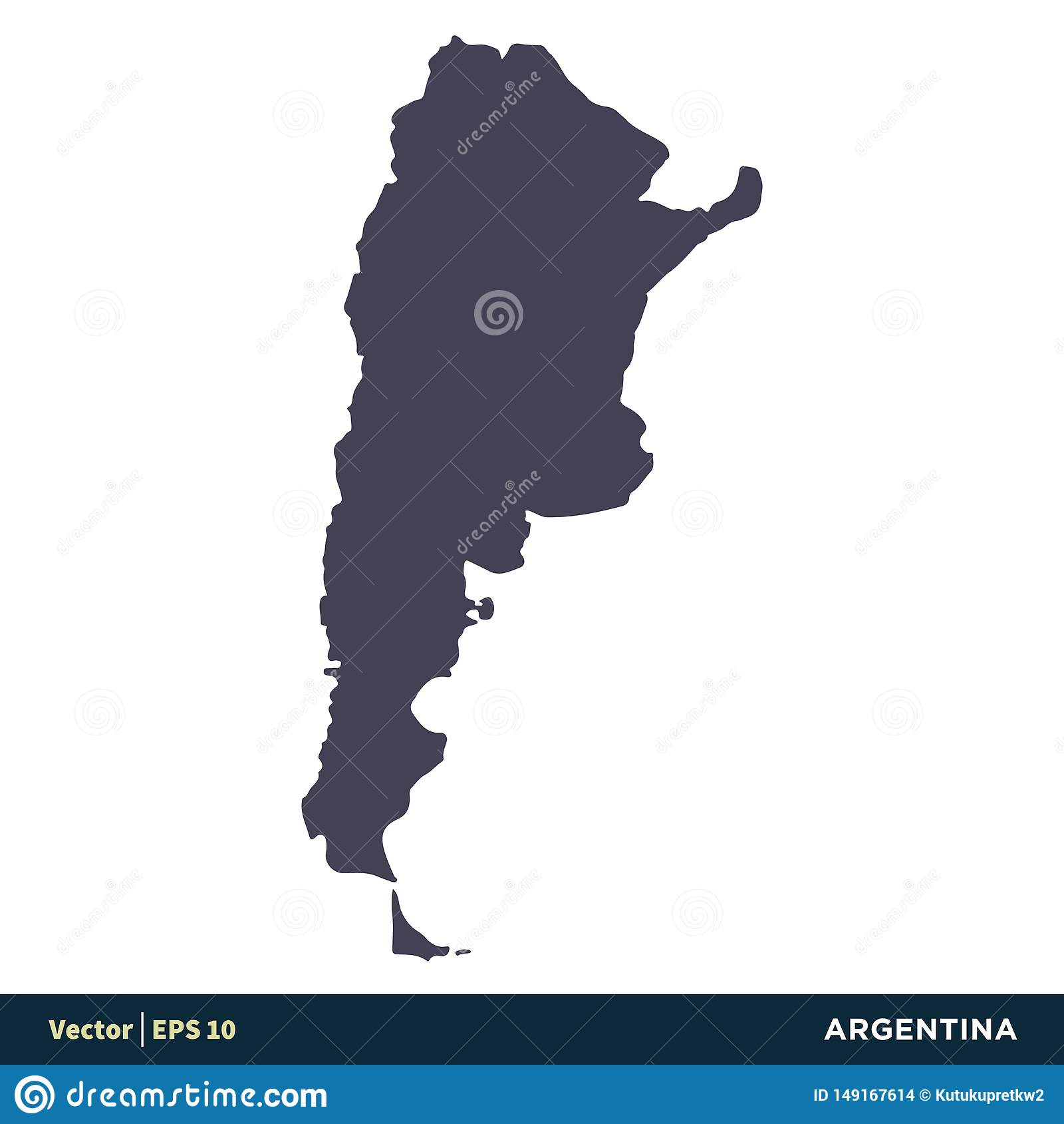 Argentina - South America Countries Map Icon Vector Logo ...