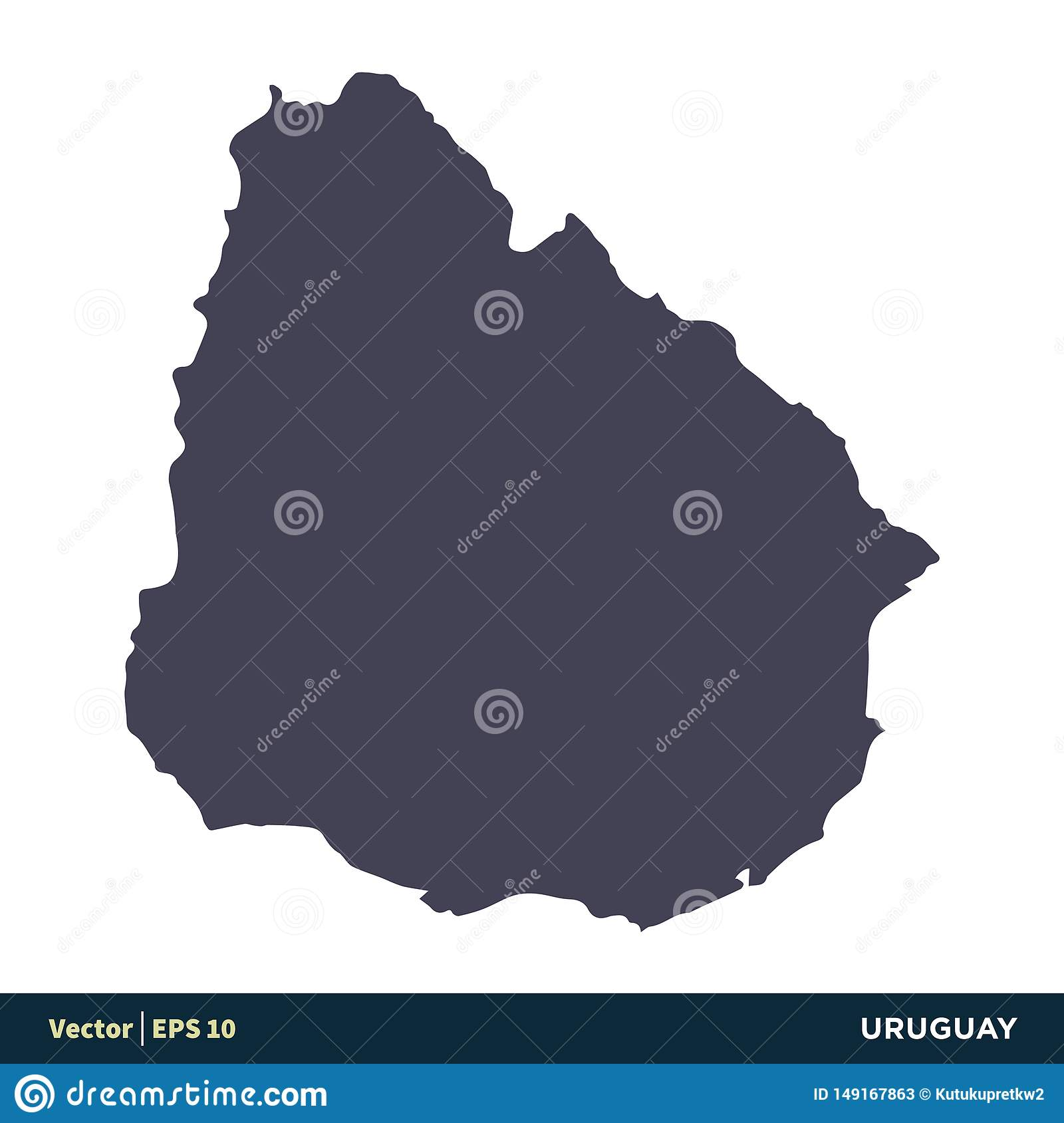 Uruguay - South America Countries Map Icon Vector Logo ...
