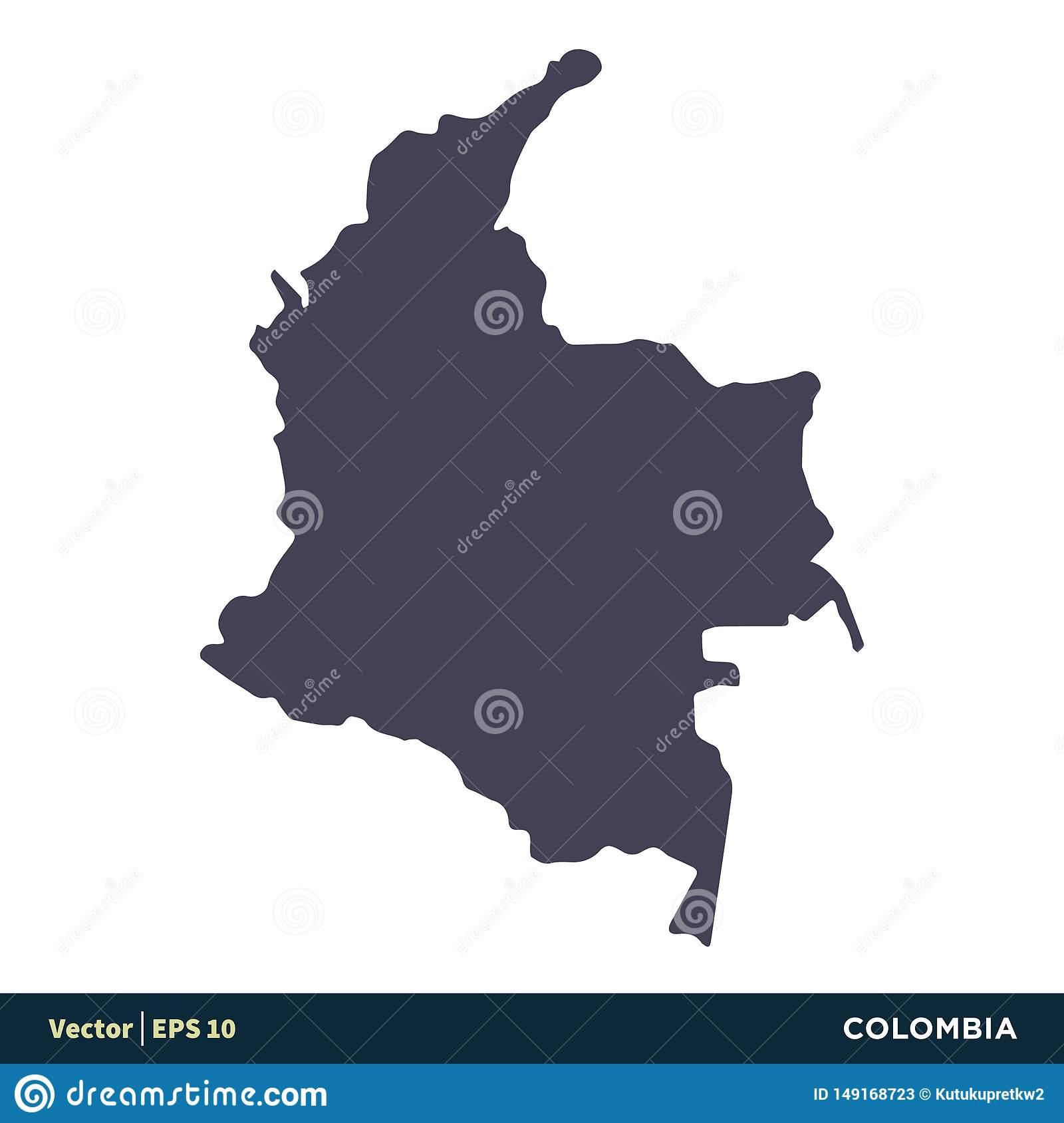 Colombia - South America Countries Map Icon Vector Logo ...