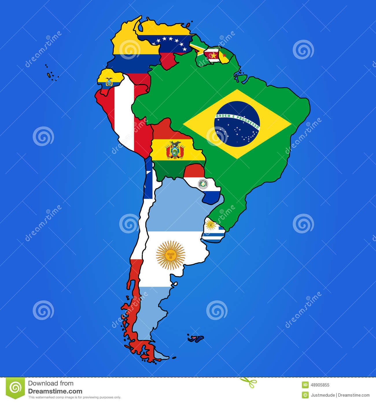South America Map stock vector. Illustration of government ...