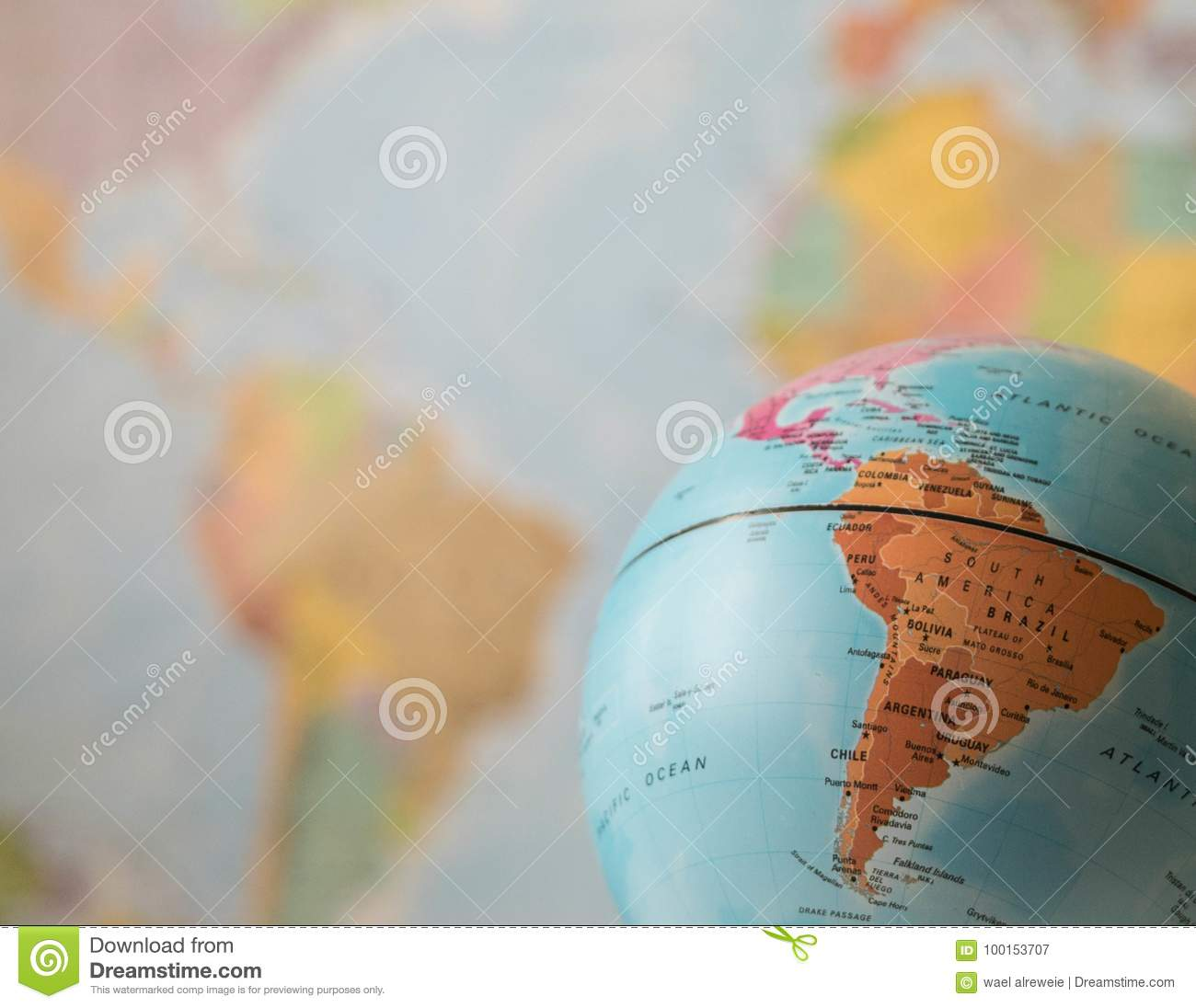 South america map on a globe stock image image of blue earth download comp freerunsca Images