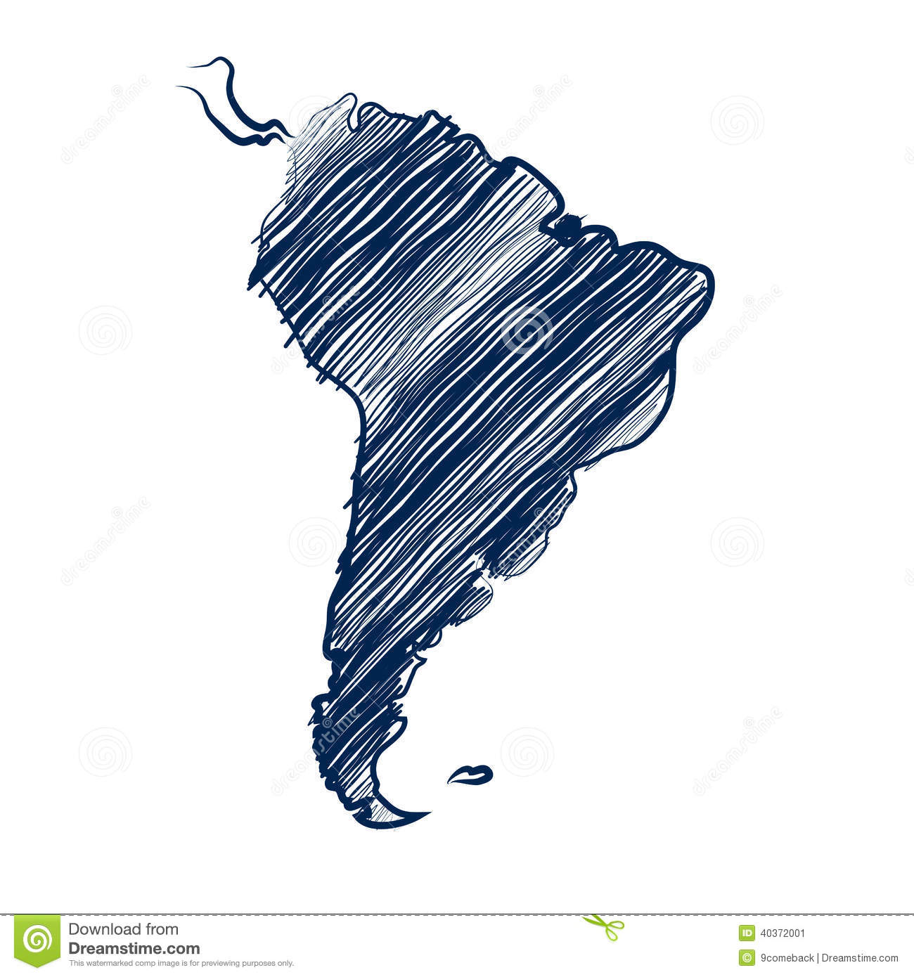 South America Map Stock Vector Illustration Of America 40372001