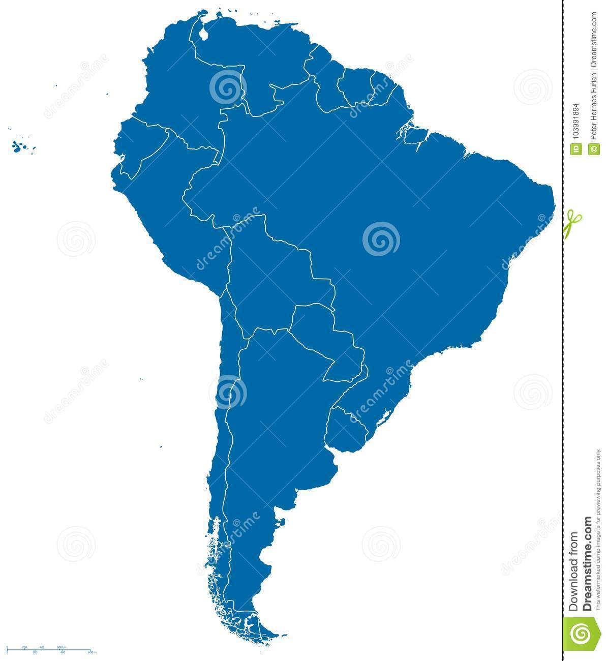 South America Map Outline Stock Vector Illustration Of Country