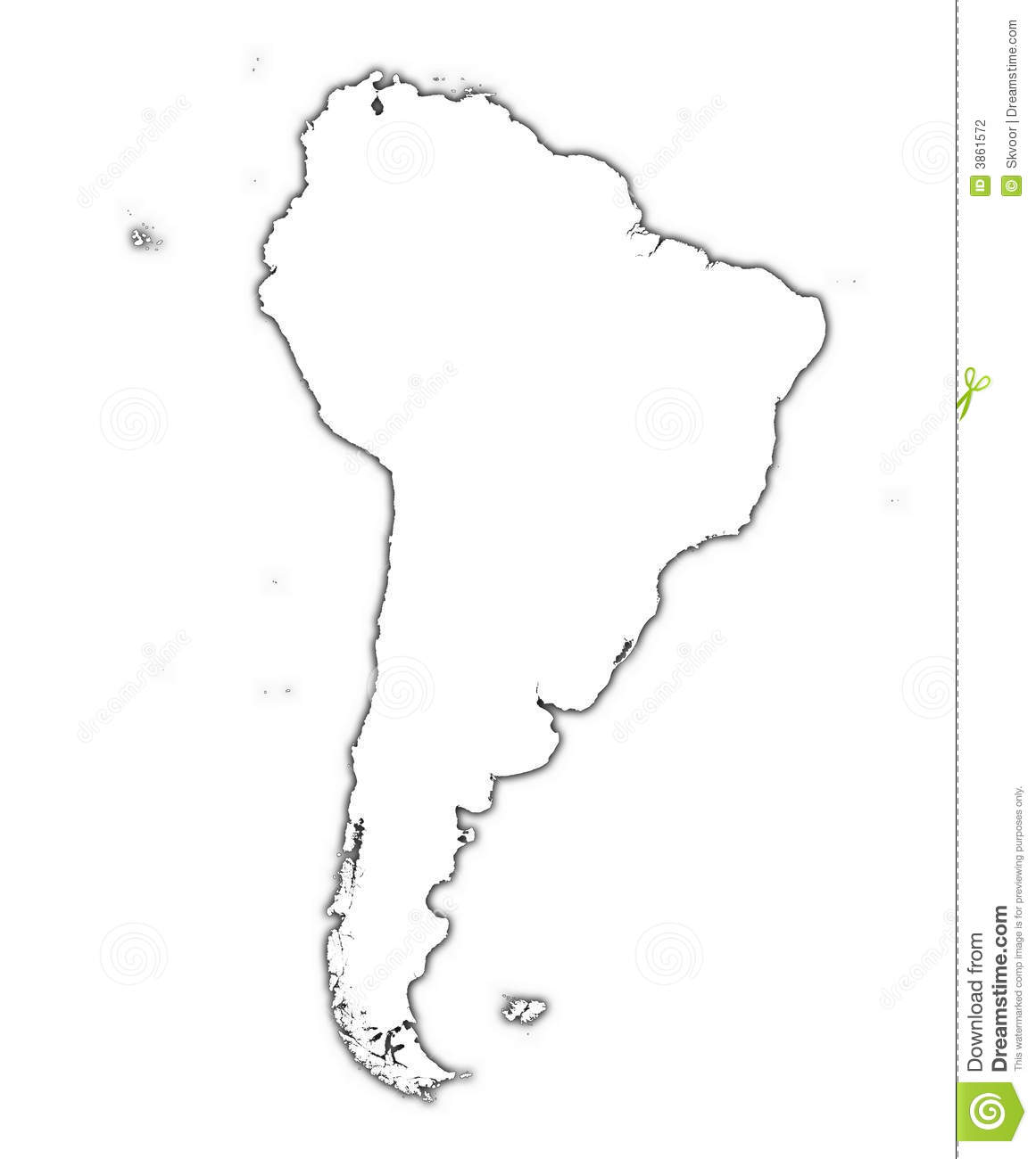 South America Map Stock Photography Image - South america map outline