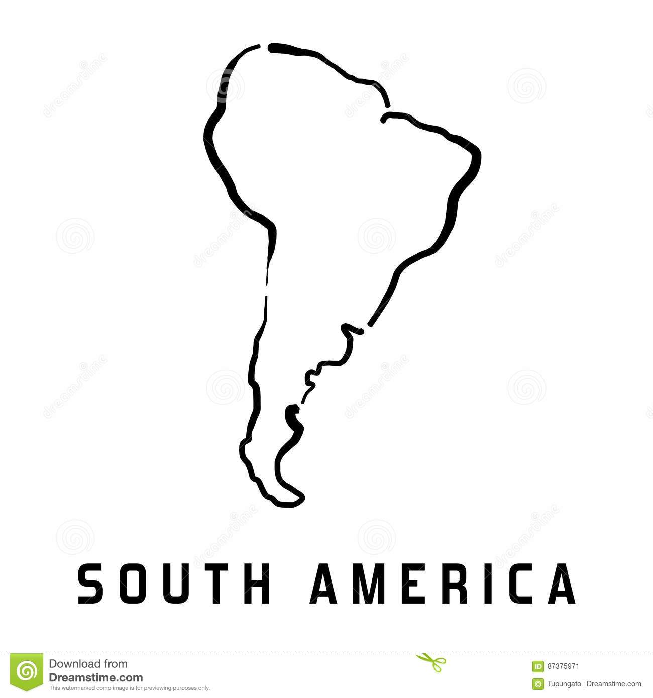 South America Map Stock Vector Illustration Of Geography