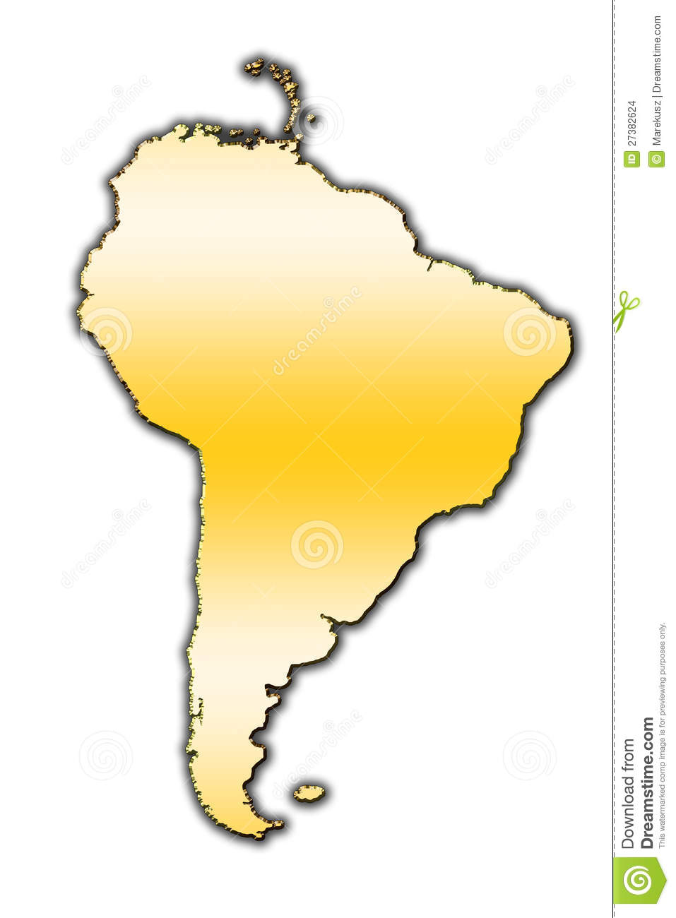South America Outline Map Stock Images Image - South america map outline