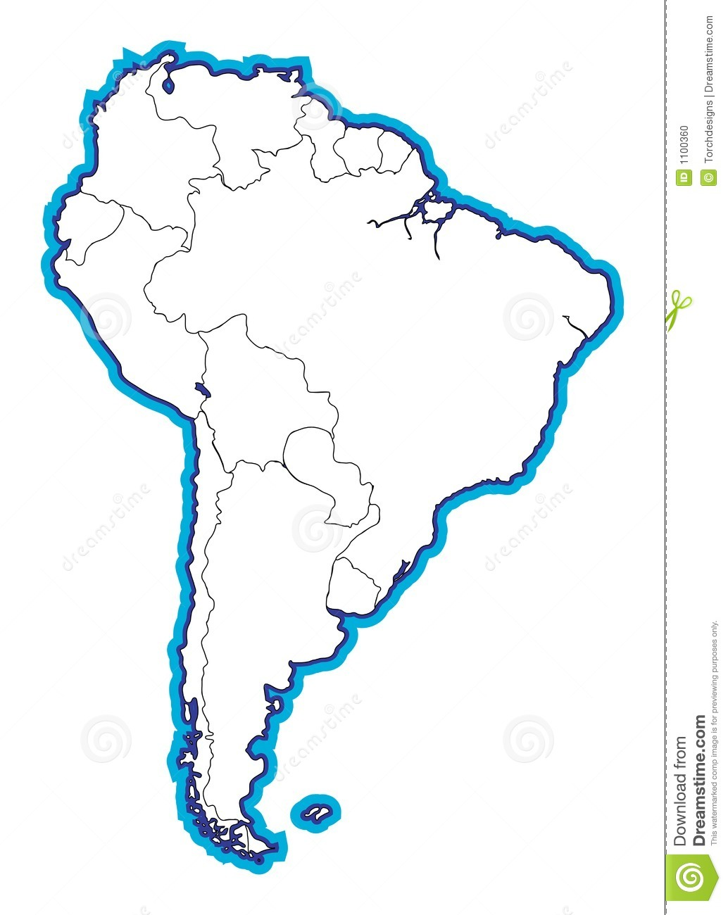 South american map blank stock illustration illustration of south american map blank gumiabroncs Images