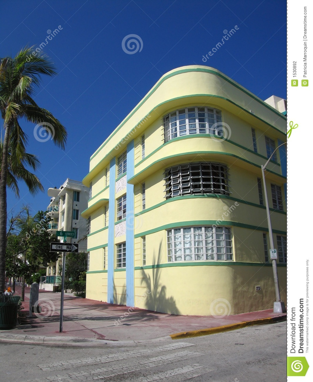 south beach art deco building stock photo image of tropical south