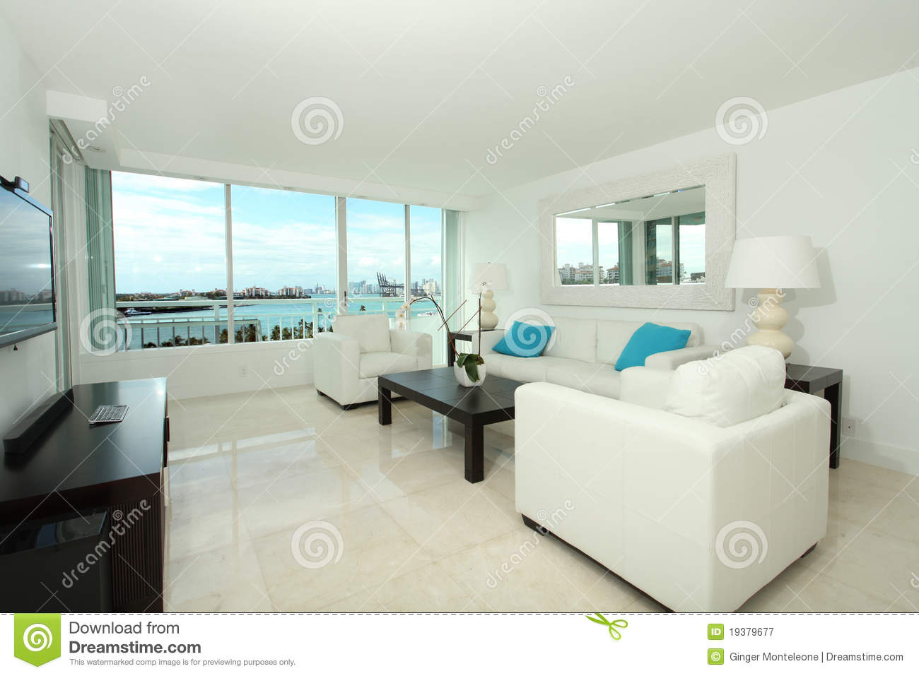 South Beach Living Room Royalty Free Stock Photography - Image ...