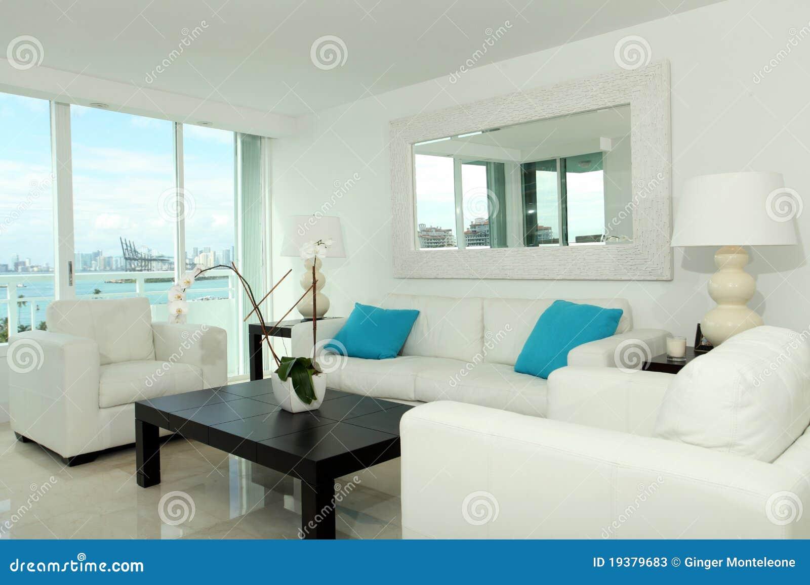 South Beach Living Room Stock Photos