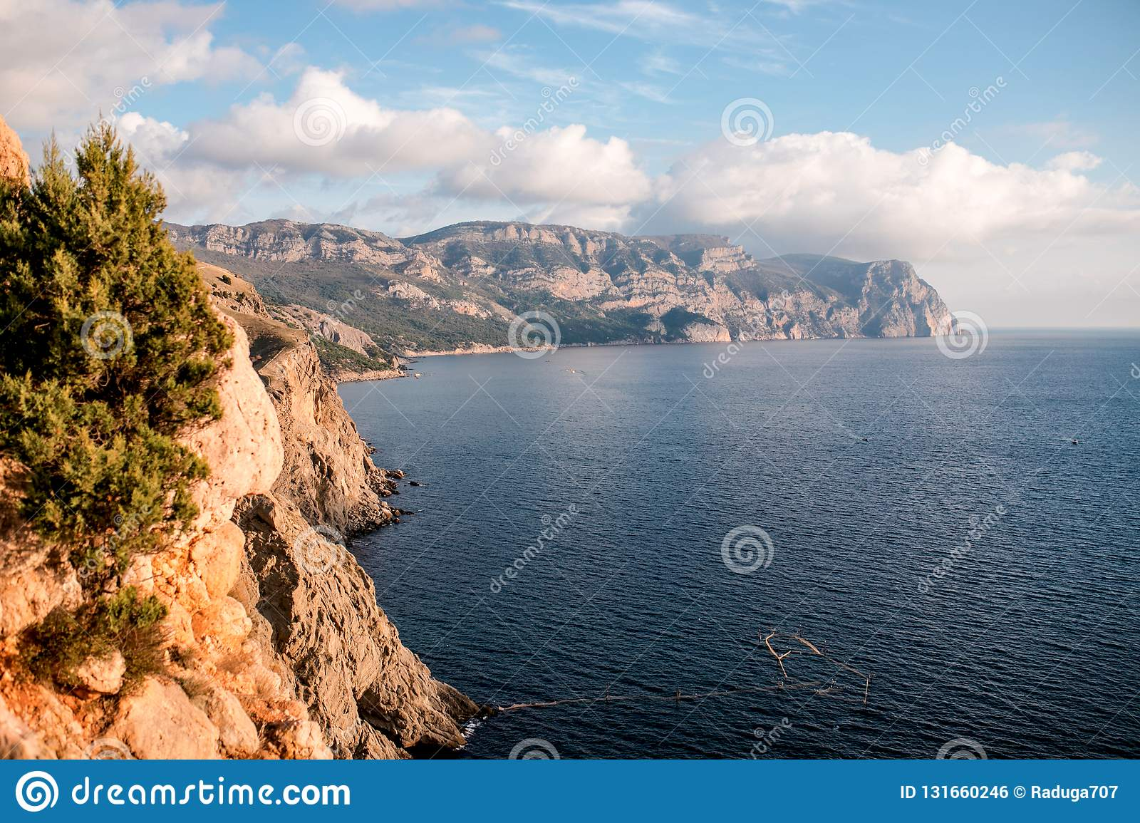 South coast of Crimea landscape, Black Sea.