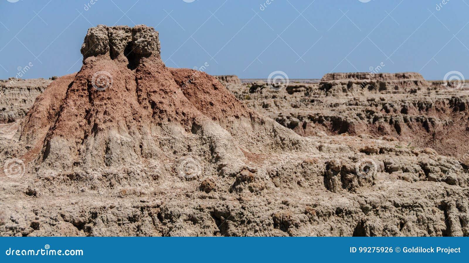 South Dakota Badlands nära sörjer Ridge indierreservation
