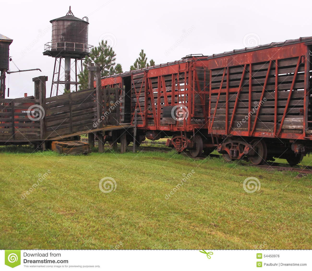 Wooden Rail Cars ~ South dakota frontier railroad cars stock photo image of