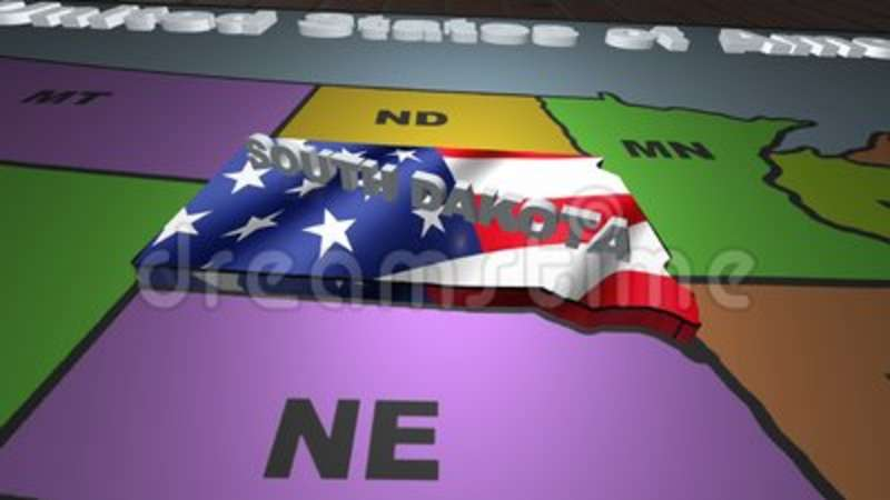 South Dakota Pull Out From USA States Abbreviations Map Stock Video ...