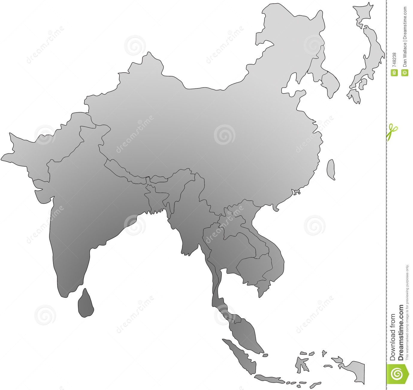 South East Asia Map Royalty Free Photos Image 748238 – Free Map of Asia