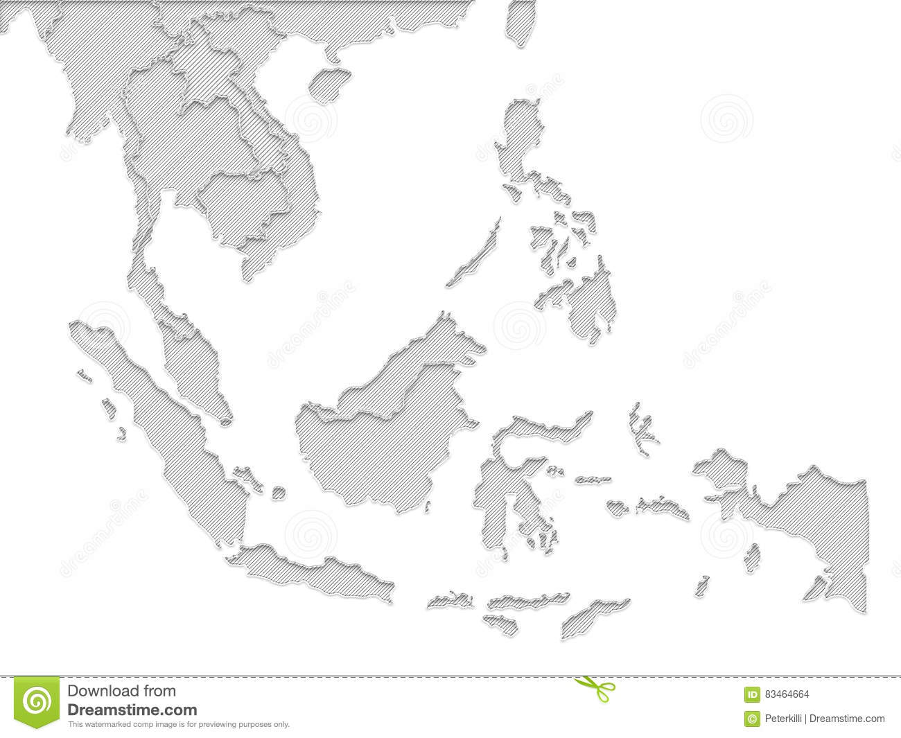 world map grey color in white background stock illustration