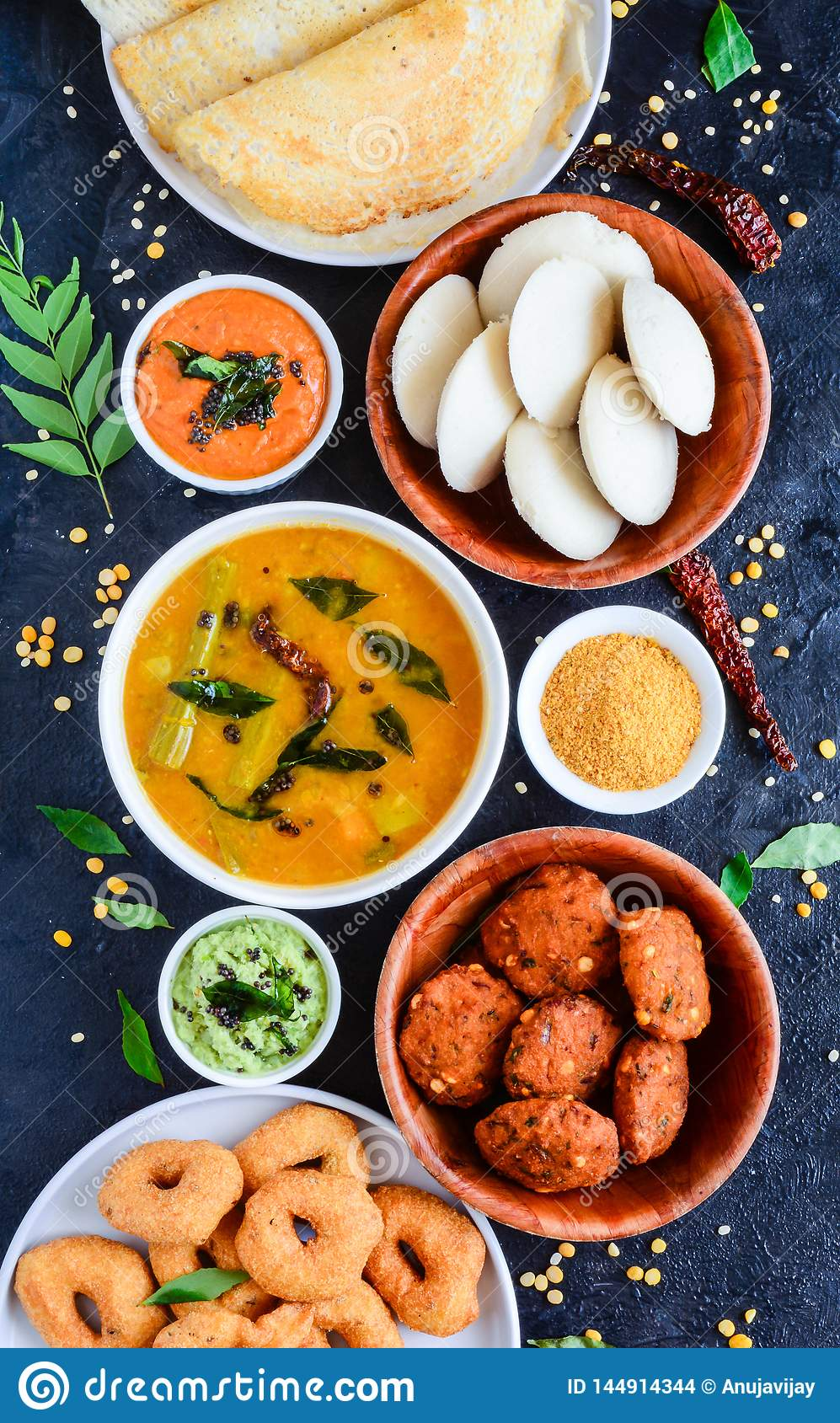 South Indian Food Platter Stock Photo Image Of Cooking 144914344