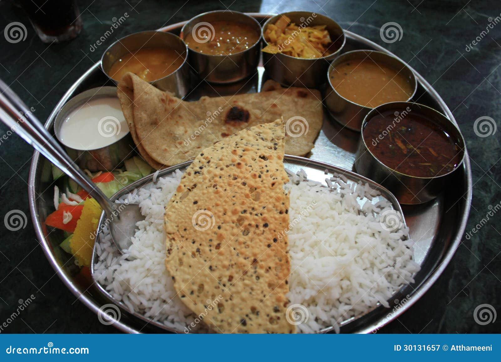 Indian Food Thali Stock Image Image Of Paneer Serving 30131657