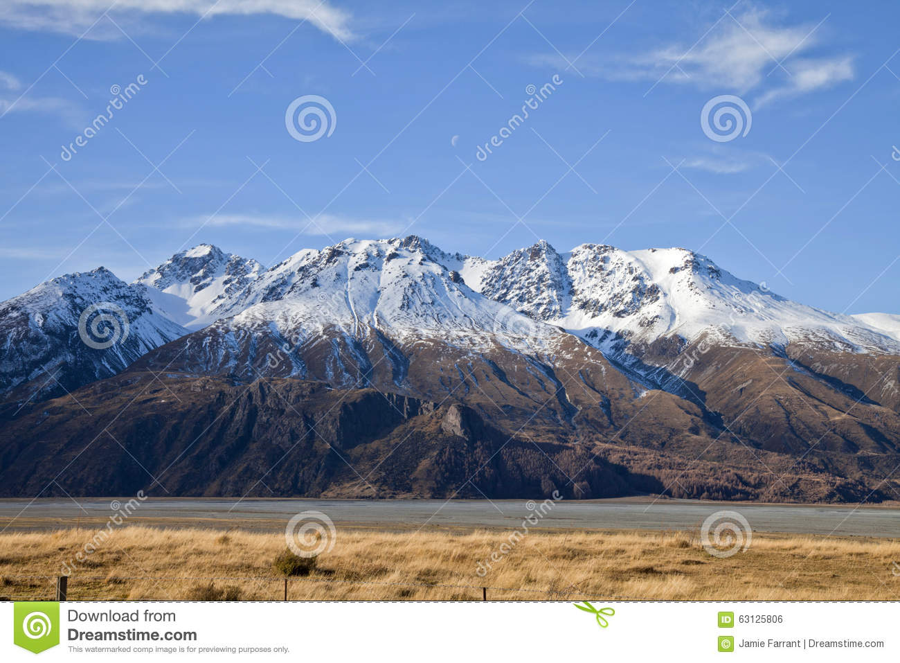 South island landscape new zealand stock photo image for Landscaping christchurch