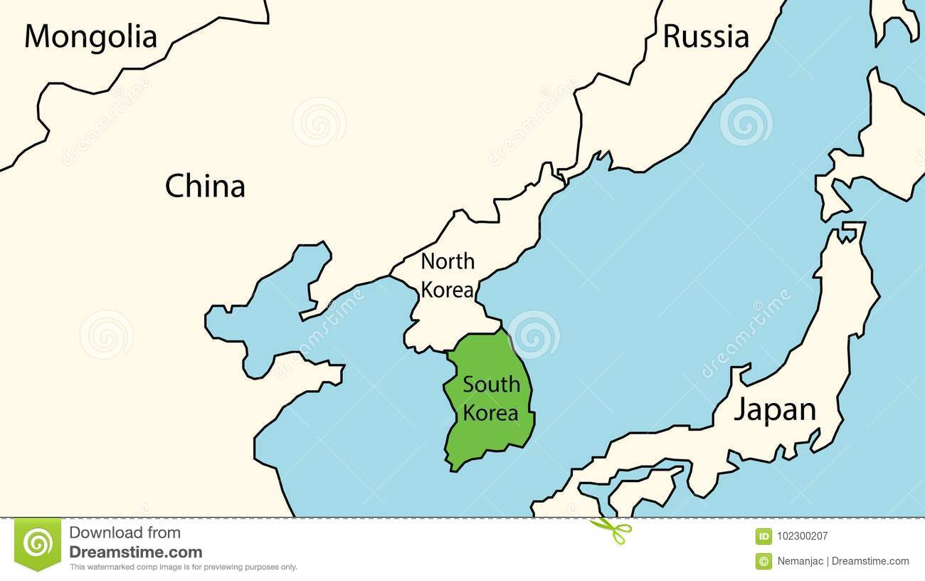 South Korea On The Map Of Eastern Asia Stock Vector - Illustration on bahamas map asia, macau map asia, russia map asia, north korea asia, seoul map asia, germany map asia, vietnam map asia, israel map asia, ukraine map asia, mali map asia, history map asia, qatar map asia, united arab emirates map asia, japan map asia, karakorum map asia, iran map asia, east timor map asia, pyongyang map asia, indonesia map asia, south korea asia,