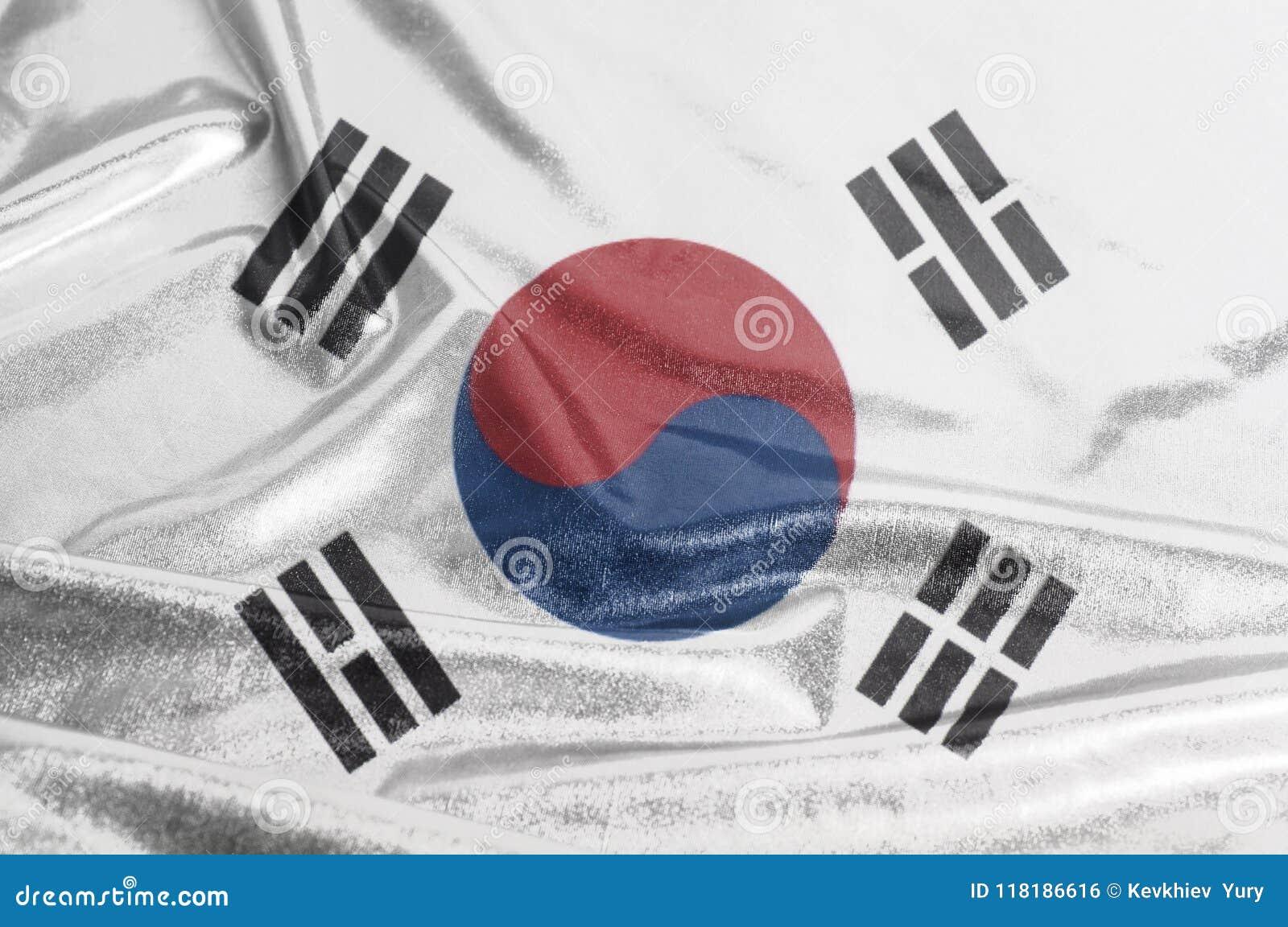 South Korea Waving Flag