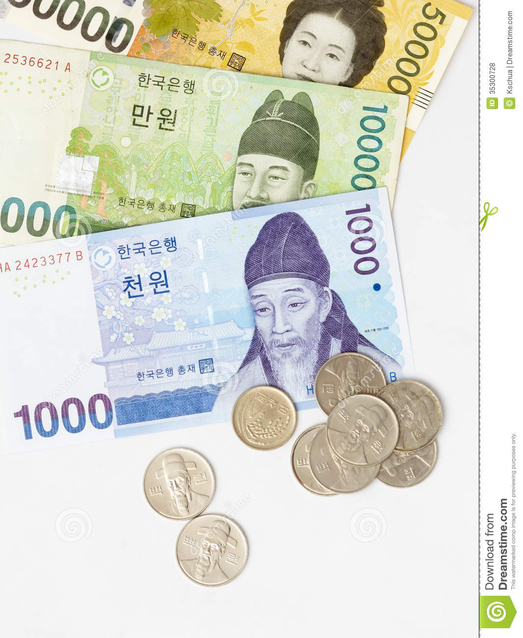 Korean notes