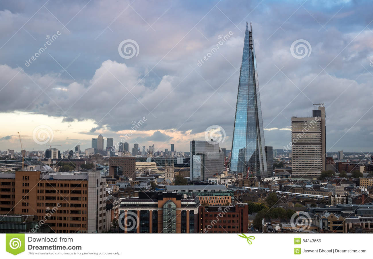 South London Skyline And The Shard Building Editorial Photo Image