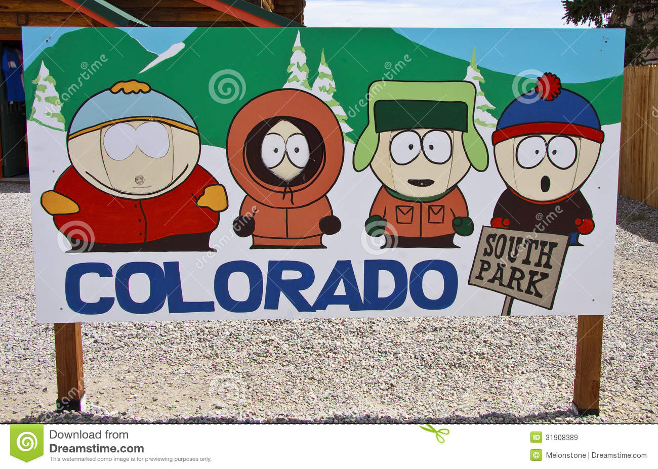 south park characters editorial stock image image of