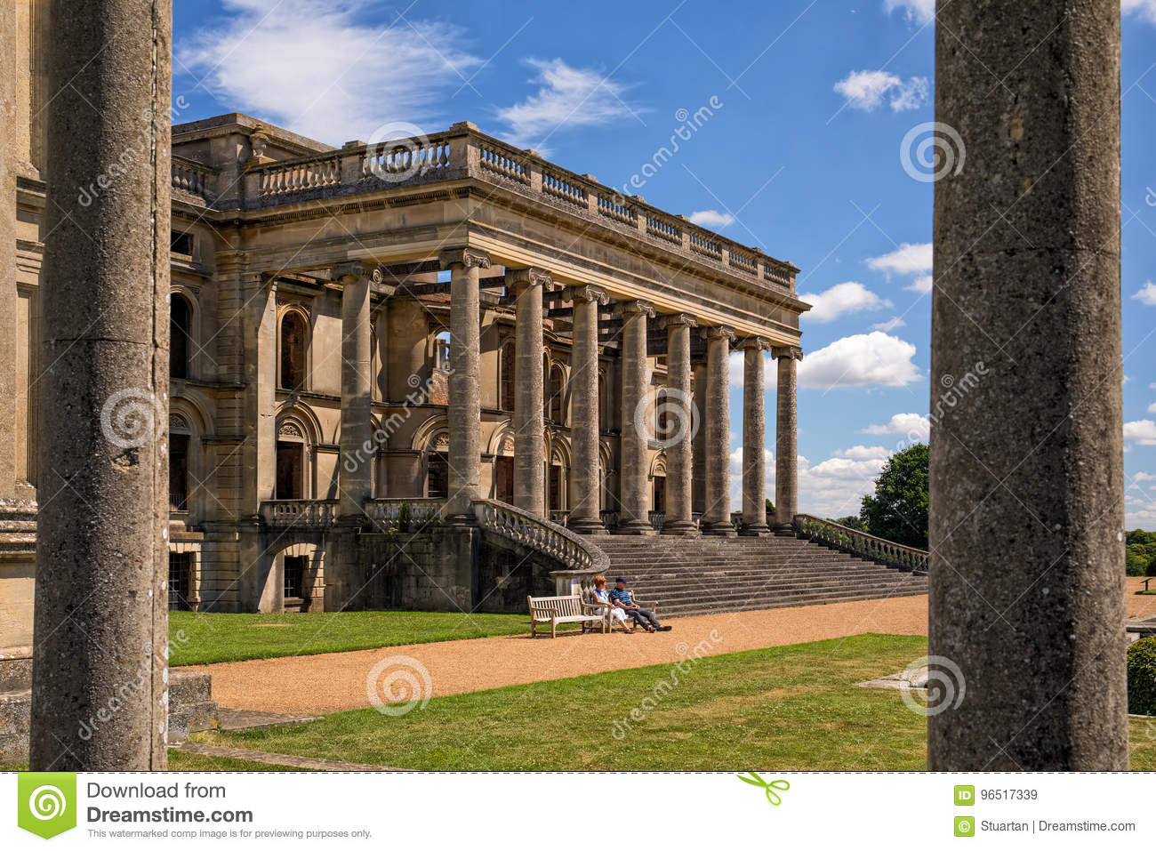 The South Portico, Witley Court, Worcestershire, England. Editorial ...