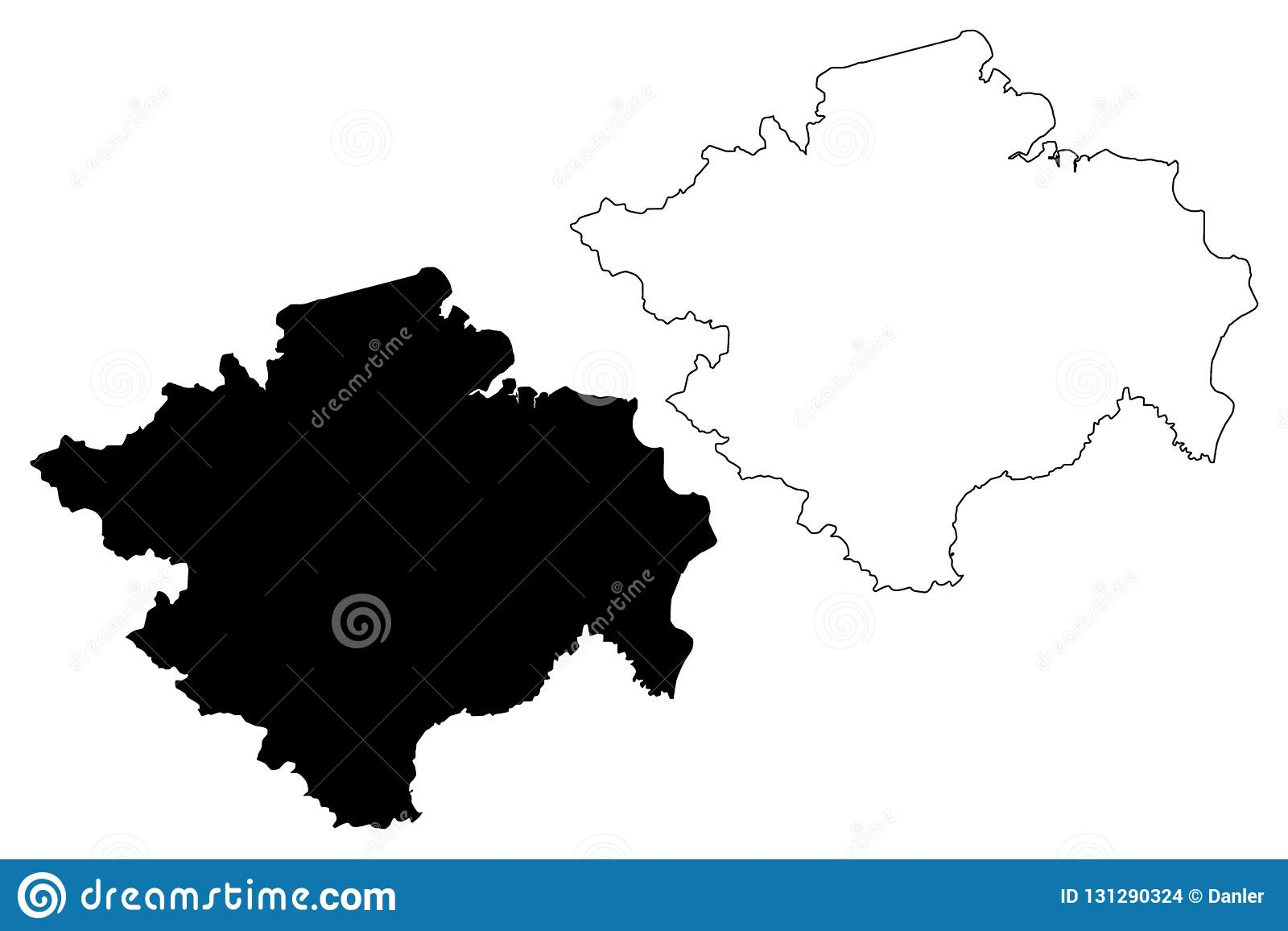 South Sumatra map vector stock vector. Illustration of ... on
